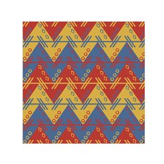 Aztec South American Pattern Zig Zag Small Satin Scarf (square) by Nexatart