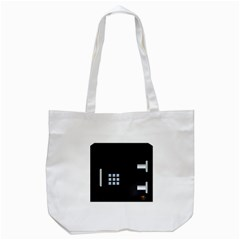Safe Vault Strong Box Lock Safety Tote Bag (white) by Nexatart