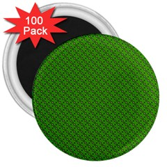 Paper Pattern Green Scrapbooking 3  Magnets (100 Pack) by Nexatart