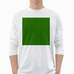 Paper Pattern Green Scrapbooking White Long Sleeve T Shirts