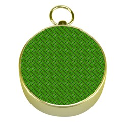Paper Pattern Green Scrapbooking Gold Compasses