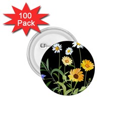 Flowers Of The Field 1 75  Buttons (100 Pack)  by Nexatart