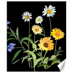 Flowers Of The Field Canvas 8  X 10  by Nexatart