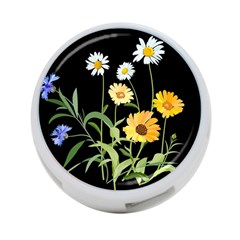Flowers Of The Field 4 Port Usb Hub (two Sides)  by Nexatart