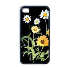 Flowers Of The Field Apple Iphone 4 Case (black)