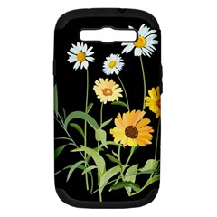 Flowers Of The Field Samsung Galaxy S Iii Hardshell Case (pc+silicone) by Nexatart