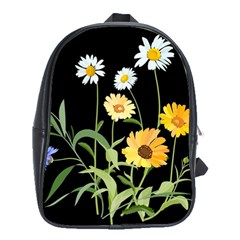 Flowers Of The Field School Bags (xl)  by Nexatart