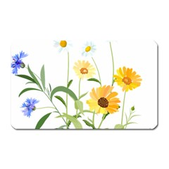 Flowers Flower Of The Field Magnet (rectangular)