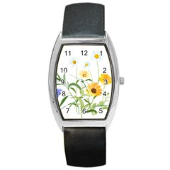Flowers Flower Of The Field Barrel Style Metal Watch by Nexatart