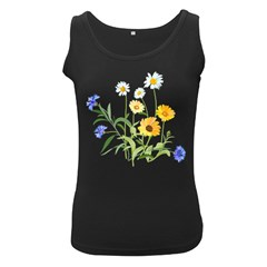 Flowers Flower Of The Field Women s Black Tank Top