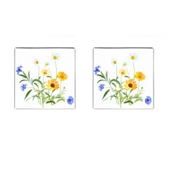 Flowers Flower Of The Field Cufflinks (square) by Nexatart