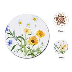 Flowers Flower Of The Field Playing Cards (round)  by Nexatart