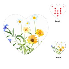 Flowers Flower Of The Field Playing Cards (heart)  by Nexatart