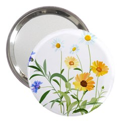Flowers Flower Of The Field 3  Handbag Mirrors by Nexatart