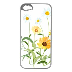 Flowers Flower Of The Field Apple Iphone 5 Case (silver) by Nexatart