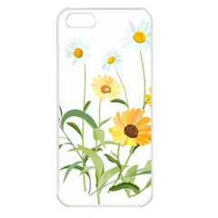 Flowers Flower Of The Field Apple Iphone 5 Seamless Case (white)