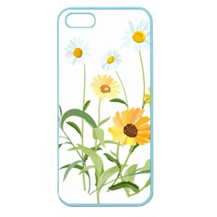 Flowers Flower Of The Field Apple Seamless Iphone 5 Case (color) by Nexatart