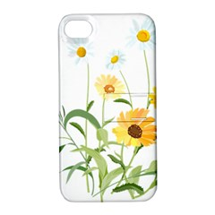 Flowers Flower Of The Field Apple Iphone 4/4s Hardshell Case With Stand by Nexatart