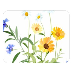 Flowers Flower Of The Field Double Sided Flano Blanket (large)