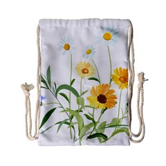 Flowers Flower Of The Field Drawstring Bag (small) by Nexatart