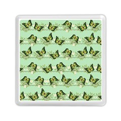 Green Butterflies Memory Card Reader (square)  by linceazul