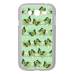 Green Butterflies Samsung Galaxy Grand Duos I9082 Case (white) by linceazul