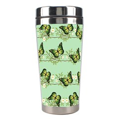 Green Butterflies Stainless Steel Travel Tumblers by linceazul