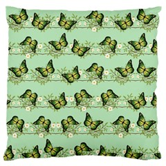 Green Butterflies Standard Flano Cushion Case (two Sides) by linceazul