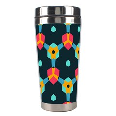 Connected Shapes Pattern          Stainless Steel Travel Tumbler by LalyLauraFLM