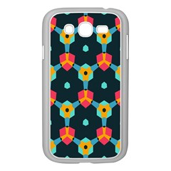Connected Shapes Pattern    Samsung Galaxy S4 I9500/ I9505 Case (white) by LalyLauraFLM