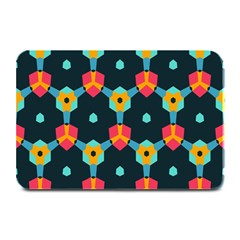 Connected Shapes Pattern         Large Bar Mat by LalyLauraFLM