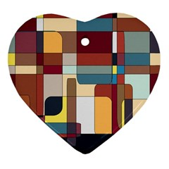 Patchwork Heart Ornament (two Sides) by digitaldivadesigns