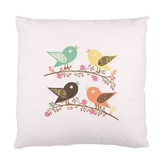 Four Birds Standard Cushion Case (two Sides) by linceazul