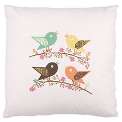 Four Birds Standard Flano Cushion Case (one Side) by linceazul