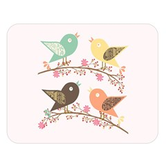Four Birds Double Sided Flano Blanket (large)  by linceazul
