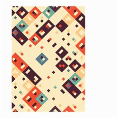 Squares In Retro Colors         Small Garden Flag by LalyLauraFLM