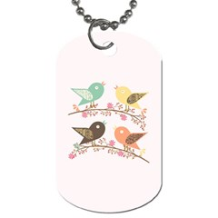 Four Birds Dog Tag (two Sides) by linceazul