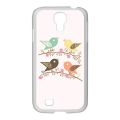 Four Birds Samsung Galaxy S4 I9500/ I9505 Case (white) by linceazul