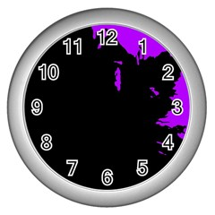 Abstraction Wall Clocks (silver)