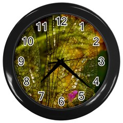 Dragonfly Dragonfly Wing Insect Wall Clocks (black) by Nexatart