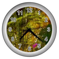 Dragonfly Dragonfly Wing Insect Wall Clocks (silver)  by Nexatart