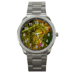 Dragonfly Dragonfly Wing Insect Sport Metal Watch by Nexatart