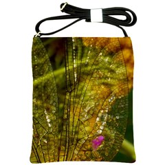 Dragonfly Dragonfly Wing Insect Shoulder Sling Bags by Nexatart