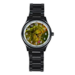 Dragonfly Dragonfly Wing Insect Stainless Steel Round Watch by Nexatart