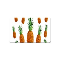 Pineapple Print Polygonal Pattern Magnet (name Card)