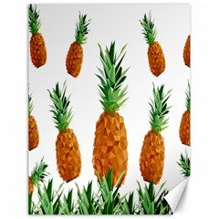 Pineapple Print Polygonal Pattern Canvas 18  X 24   by Nexatart