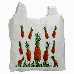 Pineapple Print Polygonal Pattern Recycle Bag (one Side) by Nexatart