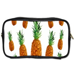 Pineapple Print Polygonal Pattern Toiletries Bags 2 Side by Nexatart