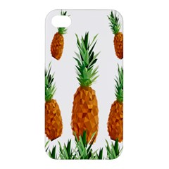 Pineapple Print Polygonal Pattern Apple Iphone 4/4s Hardshell Case by Nexatart