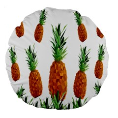 Pineapple Print Polygonal Pattern Large 18  Premium Round Cushions by Nexatart